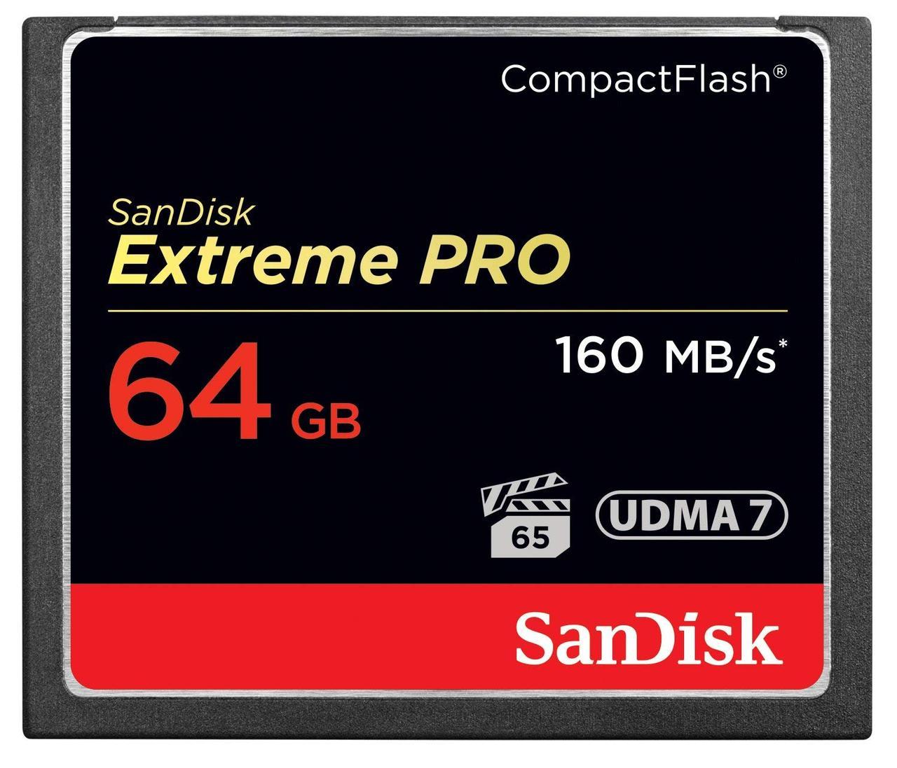 SanDisk Extreme PRO 64GB /ОРИГИНАЛ!/ CompactFlash карта памяти UDMA 7 скорость до 160MB