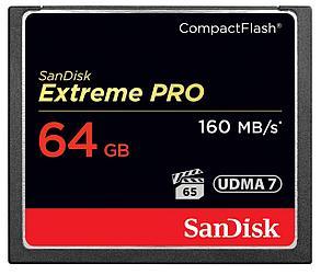 SanDisk Extreme PRO 64GB /ОРИГИНАЛ!/ CompactFlash карта памяти UDMA 7 скорость до 160MB, фото 2