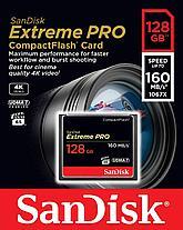 SanDisk Extreme PRO 128 GB /ОРИГИНАЛ!/ CompactFlash карта памяти UDMA 7 скорость до 160MB, фото 2
