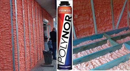 """Напыляемый полиуретановый утеплитель """"Полинор"""" (Polynor), фото 2"""