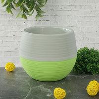 Горшок для цветов 1,2 л 'Япония', цвет серо-фисташковый