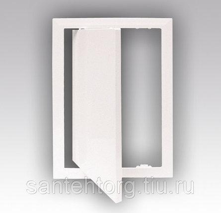 Люк-дверца  стальная с покрытием полимерной эмалью 300х300, фото 2