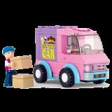 "Конструктор SLUBAN ""Розовая мечта"" Фургон доставки 102 деталей, фото 1"