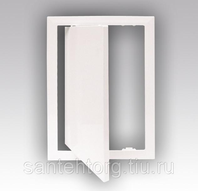 Люк-дверца  стальная с покрытием полимерной эмалью 400х600 с замком