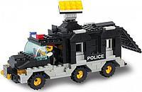 """Конструктор SLUBAN M38-B1900 """"Военная полиция: Фургон с прожектором"""" 206 деталей"""