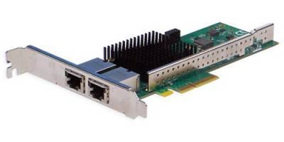 Сетевая карта 2 порта 10GBase-T (RJ45, Intel X550), Silicom PE310G2i50-T