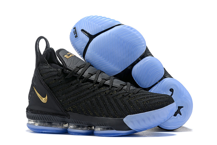 "Кроссовки Nike Lebron 16 ""Black/Gold"" XVI (40-46)"