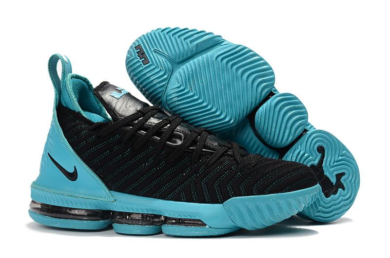 "Кроссовки Nike Lebron 16 ""Black/Jade"" XVI (40-46)"