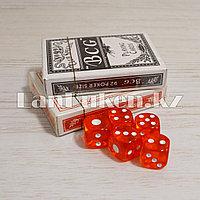 Набор карт для покера 2 колоды и кубики 5 штук