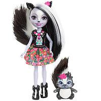 Mattel Enchantimals DYC75 Кукла Седж Скунси, 15 см