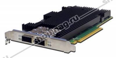 Сетевая карта 2 порта 10G/25G/40G/100GBaseX Content Director (QSFP28, Intel FM10420), Silicom PE3100G2DQiR-QX4