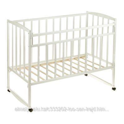 Детская кроватка ВДК Magico (колесо-качалка), цвет белый