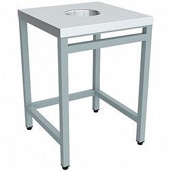 Стол для сбора остатков пищи ЭКОНОМ ССОП-6/6ЭНП 600х600 (отверстие в центре)