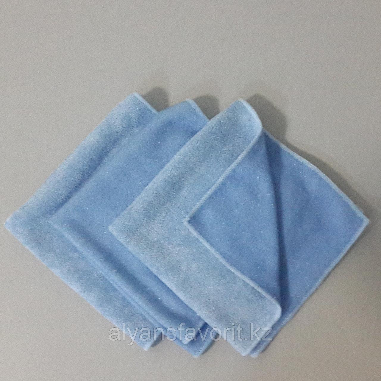 Тряпочка (салфетка) микрофибра с пластиковым абразивом  40*40 см.