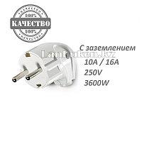Электрическая вилка ЭлектроПласт c заземлением 10А/16А 250V белая