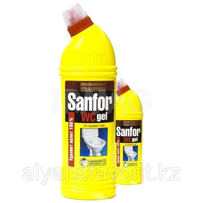 Sanfor WC гель - средство для мытья унитазов и сантехники. 750 мл.РФ