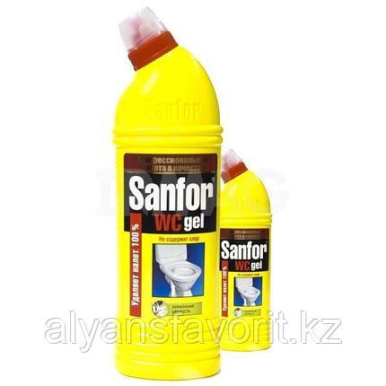 Sanfor WC гель - средство для мытья унитазов и сантехники. 750 мл.РФ, фото 2