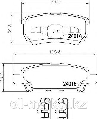 JAPANPARTS тормозные колодки задние Mitsubishi Lancer X 08-; Lancer X 03-; Outlander I (CU_W) 03-08, фото 2