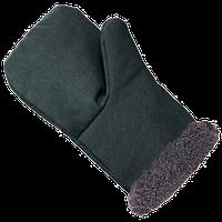 Рукавицы меховые (основа - диагональ, утеплитель - искусственный мех)