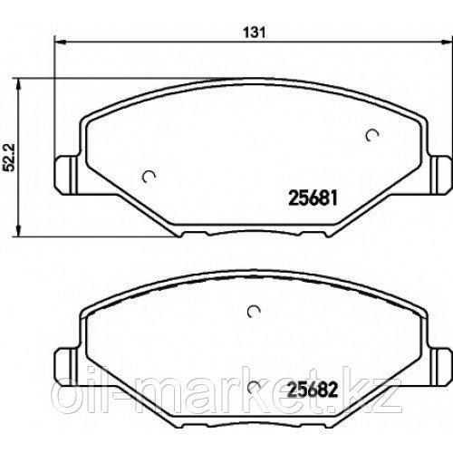 AYWIPARTS Тормозные колодки передние VW Polo Sedan 1.6 10> / SKODA Fabia 1.2 11>