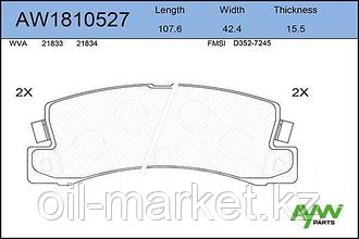 AYWIPARTS Колодки тормозные задние TOYOTA Camry(V20) >01/2.4 01>/Carina(T150/170) /Carina E(T190)