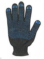 Перчатки х/б повышенной прочности  5-10 класс (черные)
