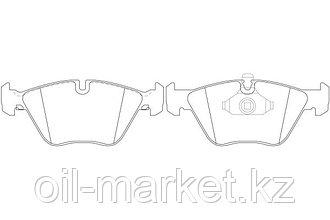 NIBK тормозные колодки, передние BMW 3-Series (E46) 330, 330 xi (02/98-04/05), X3 (E83) (01/04 ->)