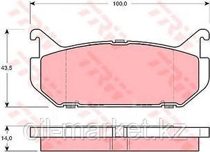 TRW тормозные колодки, задние Mazda 626 IV (GE) (06/92-02/98), Xedos 6 (CA) (01/92-)