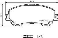 STELLOX 000 662B-S колодки тормозные диск. перед. ! с антискрип. пл.\ Nissan Qashqai 1.6/2.0/1.5dCi/1.6dCi 13>