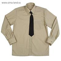 Сорочка для мальчика, нарядная с галстуком, рост 122-128 см (31), цвет оливковый 1181А