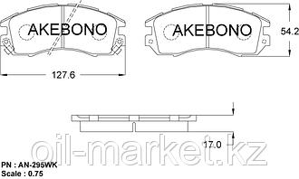 AKEBONO JAPAN AN-295WK Колодки тормозные передние Subaru Impreza 92-00, Legacy 89-99