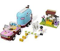 """Конструктор Bela 10161 (Аналог Lego Friends 3186) """"Эмма и трейлер для её лошадки"""" 217 деталей"""