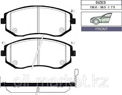 AKEBONO JAPAN AN-771WK Колодки передние Subaru Forester SG/SH/SJ, Impreza >05, Legacy >03, Outback >03, XV >12