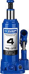 Домкрат гидравлический бутылочный T50, 4т, 192-374мм, ЗУБР Профессионал