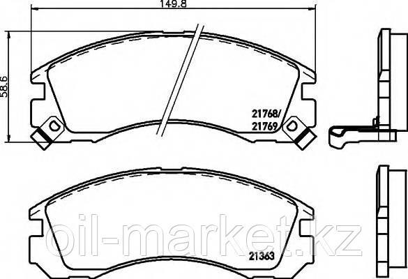 AKEBONO JAPAN AN-601WK Колодки тормозные передние Mitsubishi Outlander >03, Pajero >90, Pajero Sport >98, фото 2
