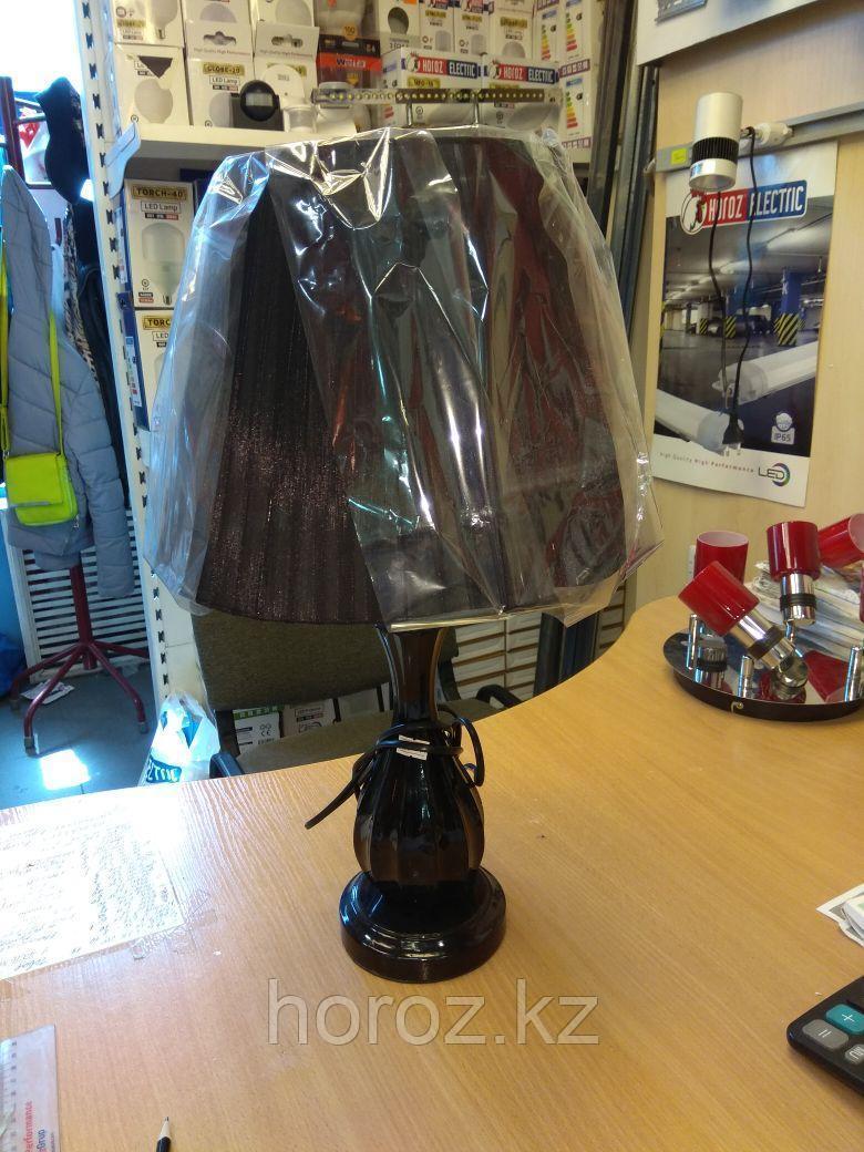 Настольная лампа с абажуром черная