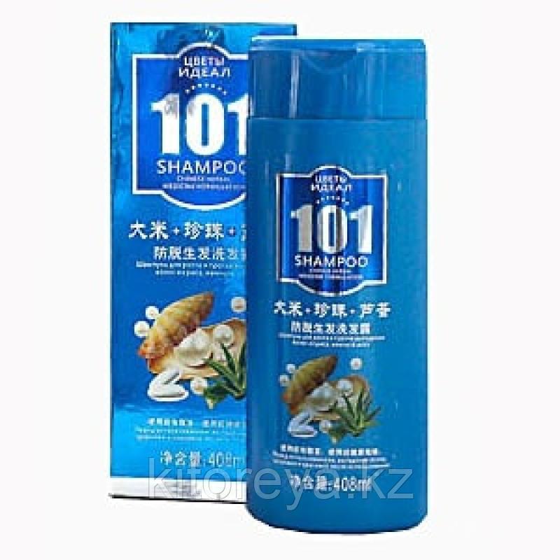 101 Цветы Идеал - Шампунь для роста и выпадения волос из риса, жемчуга, алоэ