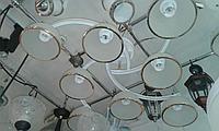 Люстра потолочная с 8 плафонами