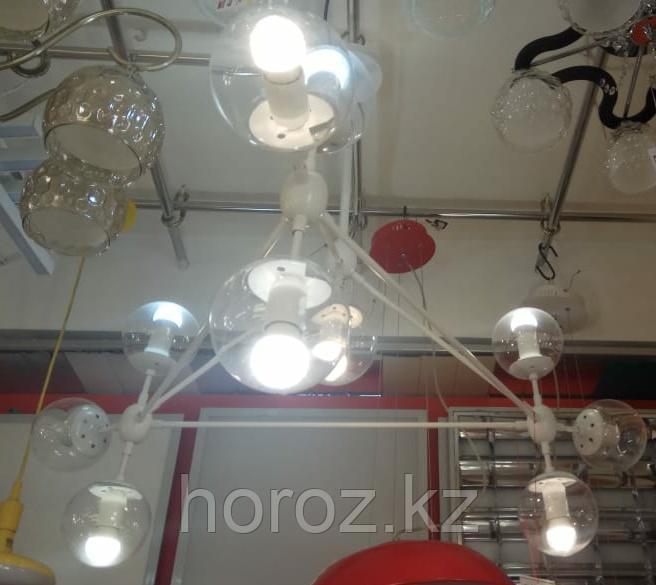 Люстра лофт молекула 10-рожковая, белая