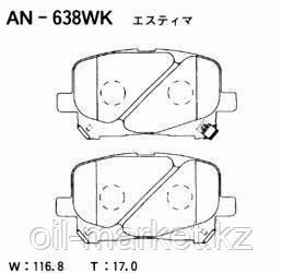AKEBONO JAPAN AN-638WK Колодки передние Toyota Camry, Previa 2.2-3.0 96-, Lexus RX300 00-03, фото 2