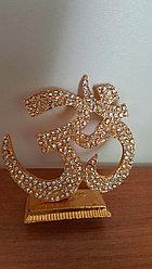 Сувенир ОМ ,металл со стразами (золото)