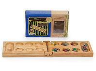 Настольная игра Калаха Манкала,  дорожная версия из бамбука