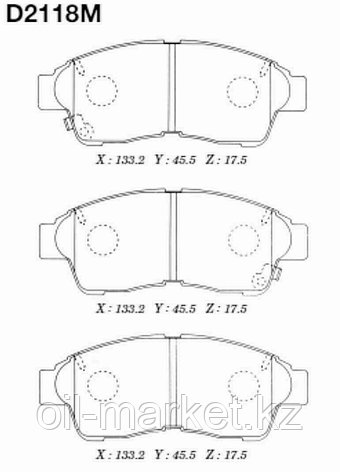 KASHIYAMA Колодки передние Toyota RAV4 94-03, Camry 10, Picnic, Carina E, Celica 93-99, Chaser 92-96, фото 2