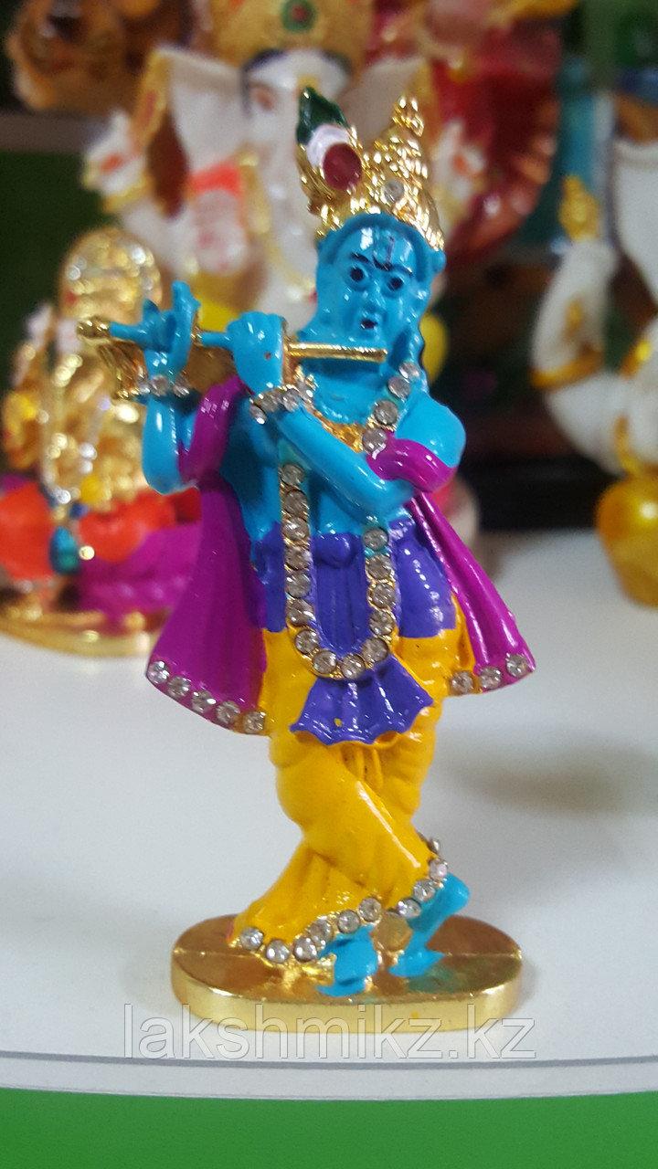 Сувенир Кришна с флейтой,металл со стразами