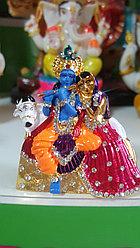Сувенир Кришна И Радха на корове,металл,стразы