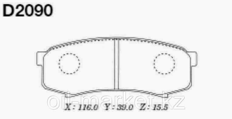 KASHIYAMA Колодки задние Toyota Land Cruiser Prado 120 >02, 80 (90-97),90 (95-02), 4Runner, фото 2