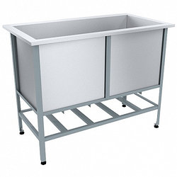 Ванна моечная (котломойка) ВМО-1, 1100х600х870(890)мм, емкость 1000х470х500мм, каркас уголок окрашенный