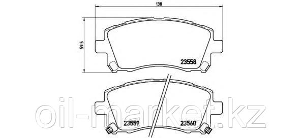 KASHIYAMA Колодки передние Subaru Forester SF 97-02, Legacy 96-03, Impreza 96-00