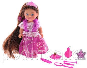 Мини-кукла Еви Rapunzel цвет платья розовый