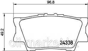 KASHIYAMA Колодки тормозные задние Toyota Camry 40, 50, RAV4 2.4 >05